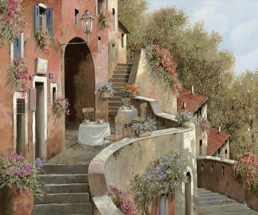 Un Caffe Al Fresco Sulla Salita Painting