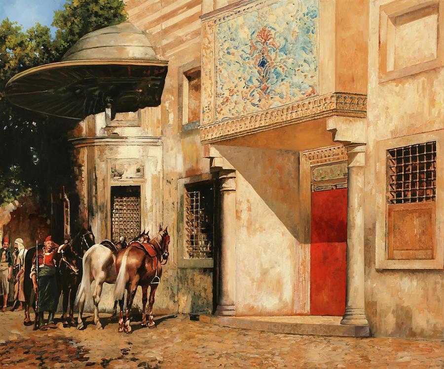Tre Cavalli Painting