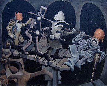 Surreal Painting - Un Ciego Detras Del Otro by Michael Irrizary-Pagan