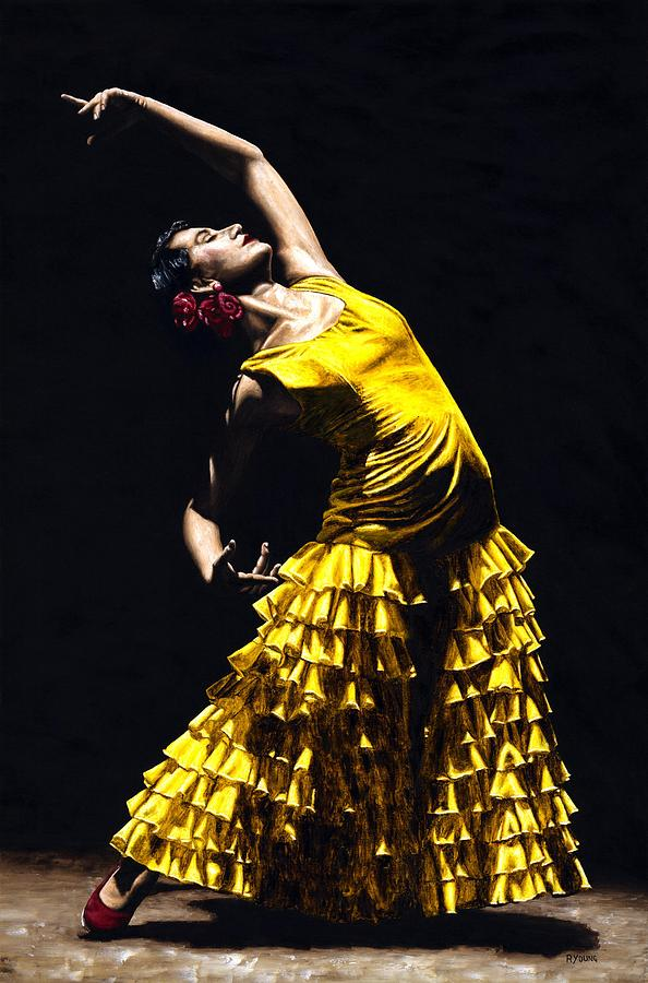 Flamenco Painting - Un Momento Intenso Del Flamenco by Richard Young