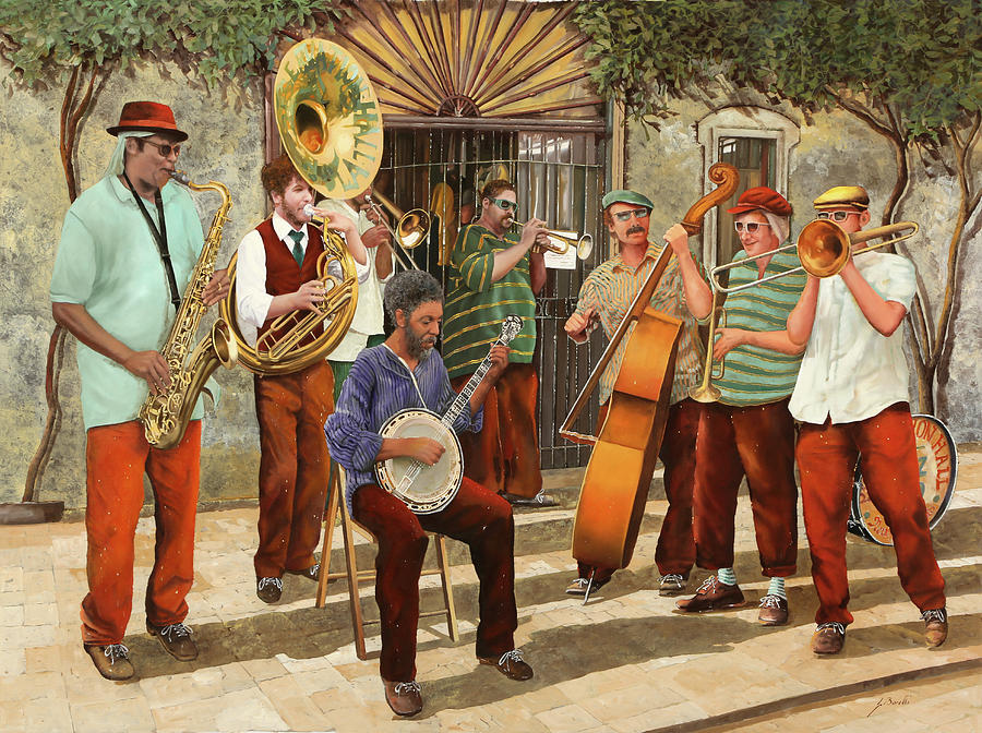 Jazz Painting - Un Po Di Jazz by Guido Borelli