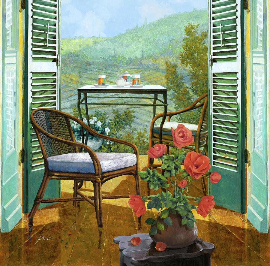 Un Vaso Di Rose Painting