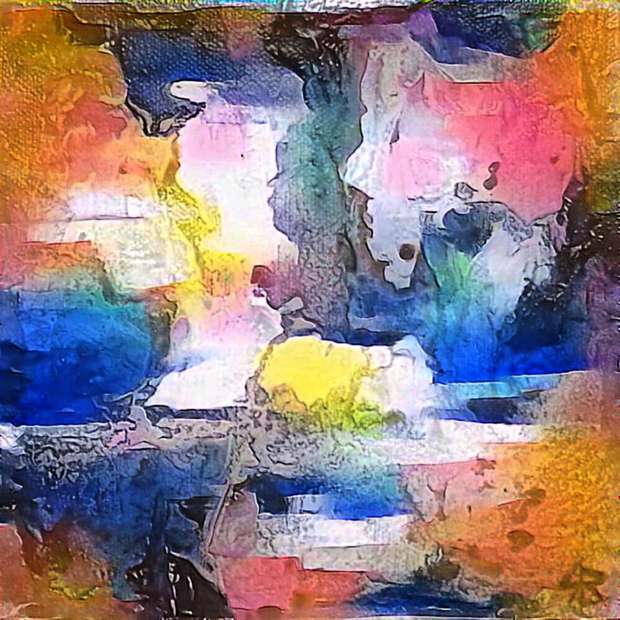 Abstract Digital Art - Una Vita by Jeff Iverson