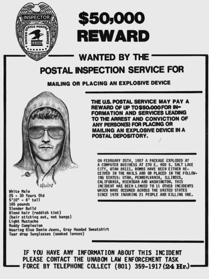 Wanted Poster for Unabomber