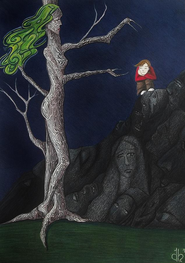 Drawing Drawing - Unalone by Danielle R T Haney