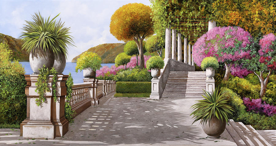 Stairs Painting - Unaltra Scalinata by Guido Borelli