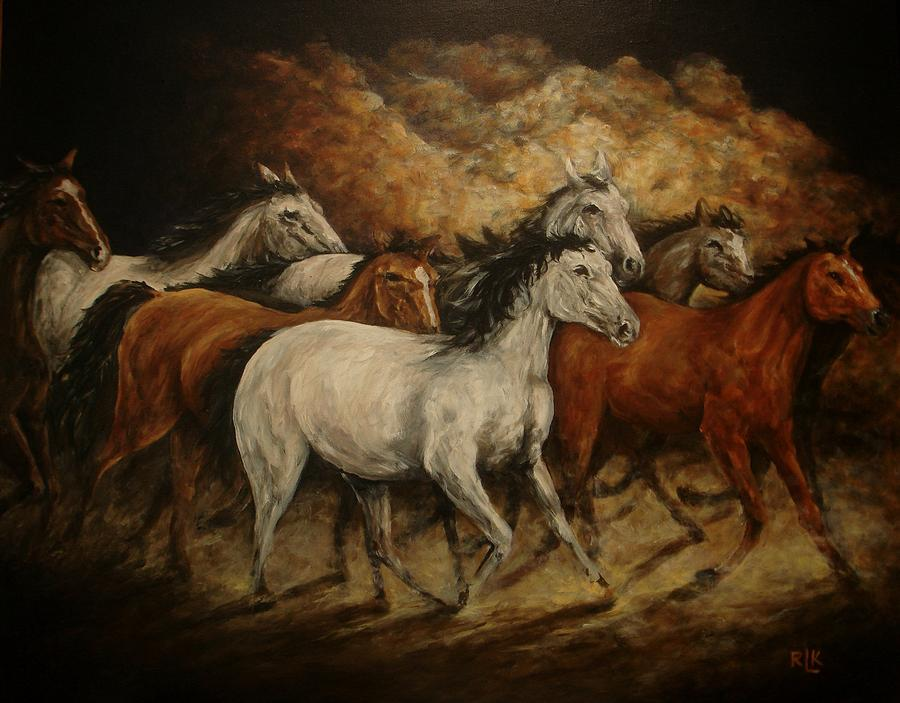 Painting Painting - Unbridled by Richard Klingbeil