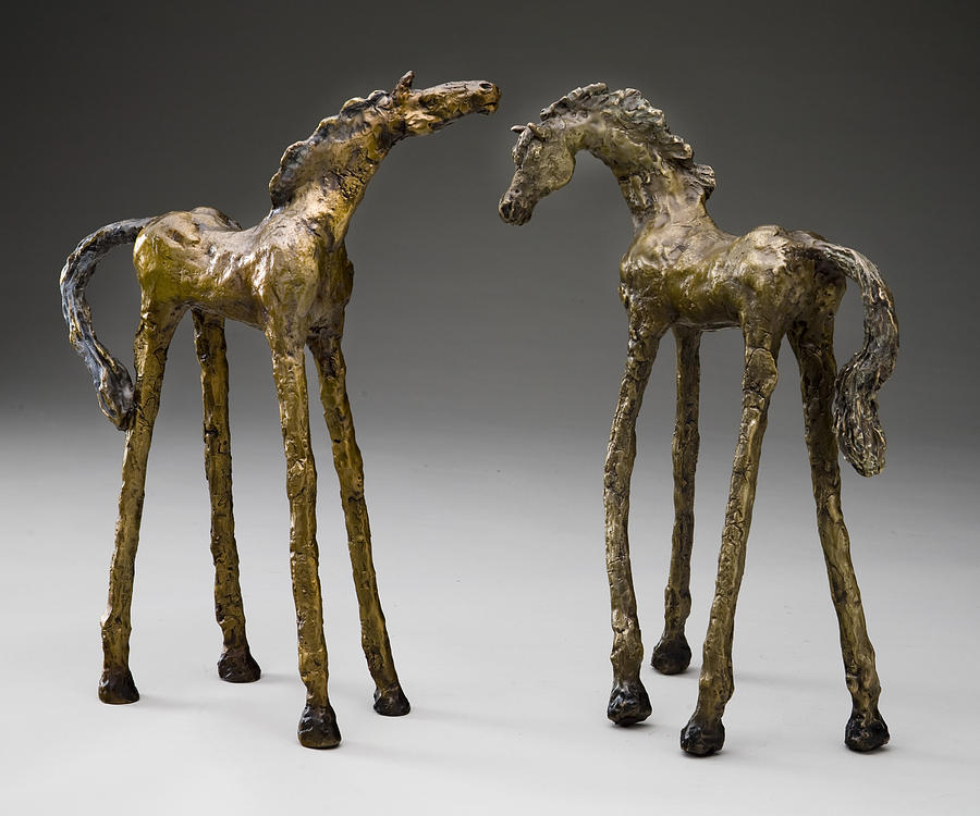 Horse Sculpture - Unbridled Sprits by Mindy Colton