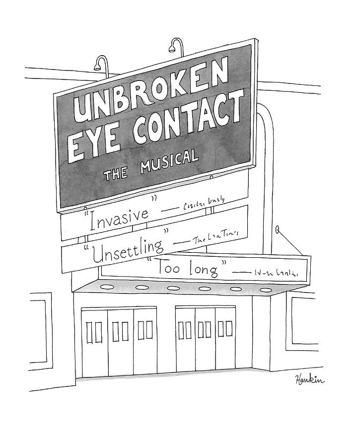 Unbroken Eye Contact The Musical Drawing by Charlie Hankin