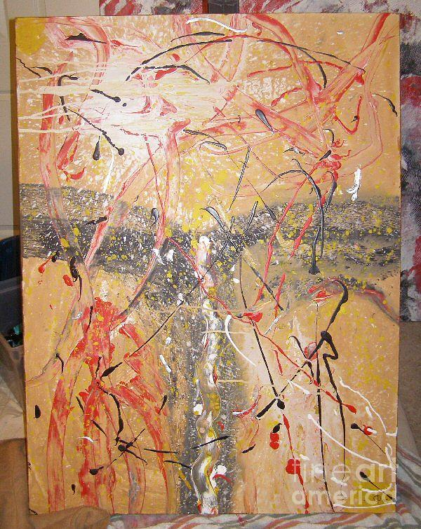 Abstract Painting - Uncertainty Principle by Don Phillips