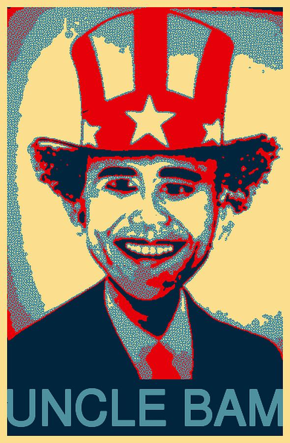 Barack Obama Digital Art - Uncle Bam Pop by Teodoro De La Santa