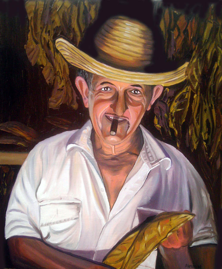 People Painting - Uncle Frank by Jose Manuel Abraham