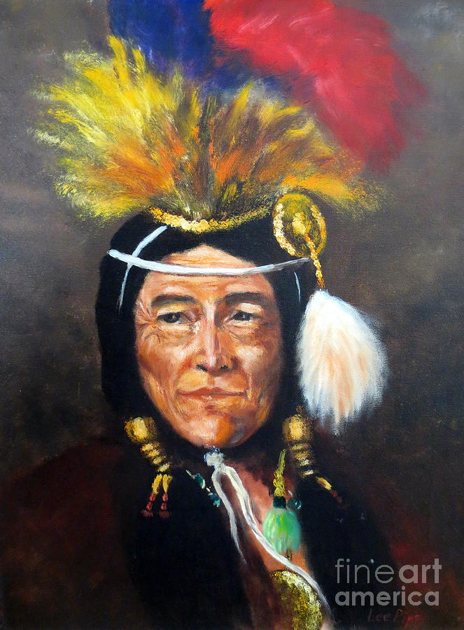 Cowboy Painting - Uncle Joe by Lee Piper