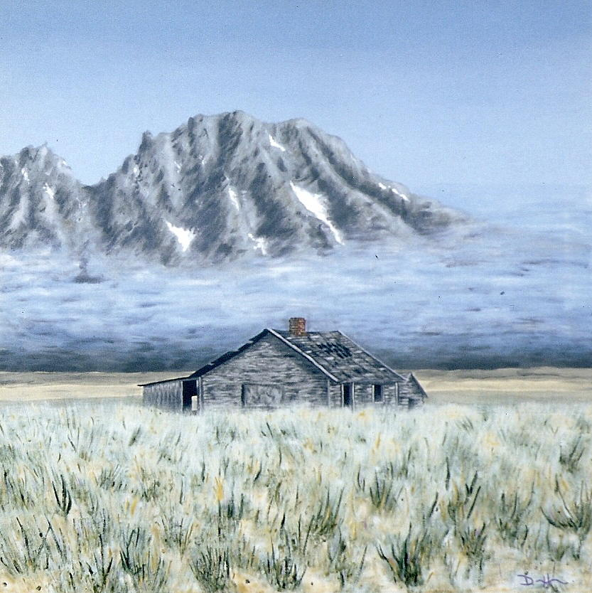 Landscapes Painting - Uncle Johns Cabin by Dave Herrling