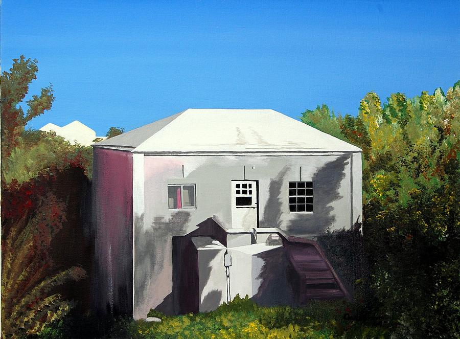 Island Scenes Painting - Uncle Leons House by Caleb Bynum