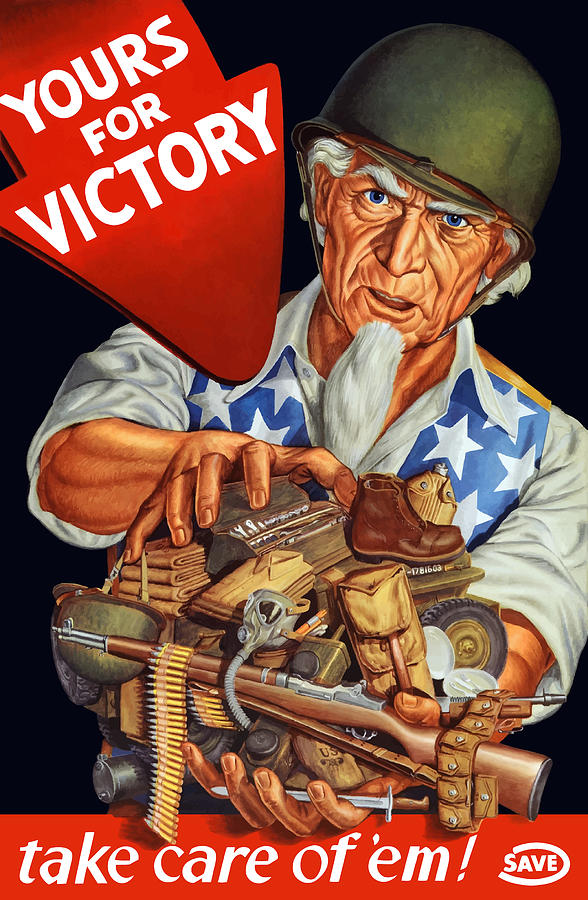 Uncle Sam Painting - Uncle Sam - Yours For Victory by War Is Hell Store