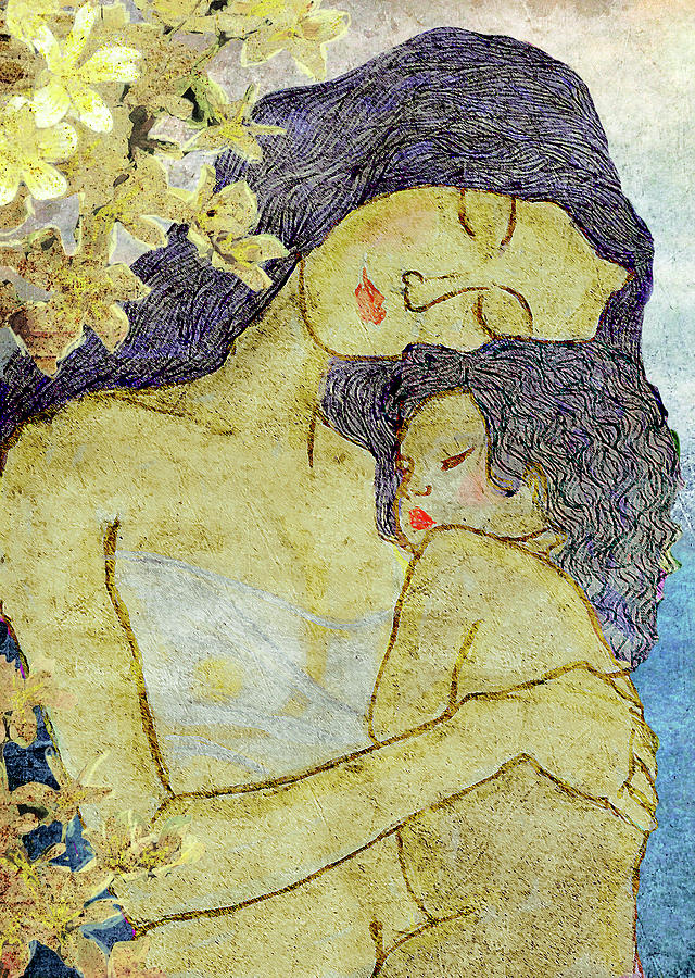 Mother Digital Art - Unconditional Love by Shakila Malavige