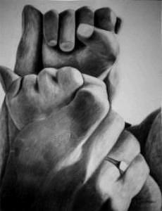 Hands Painting - Unconditional by Parvin Shere