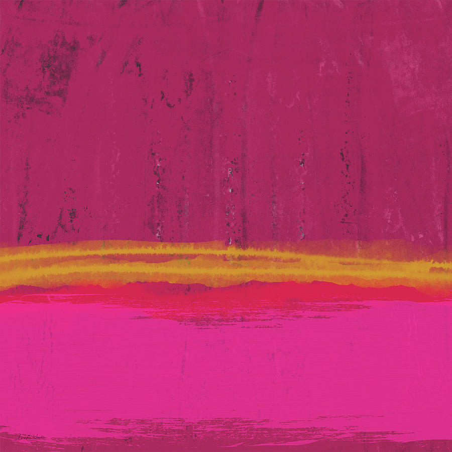 Abstract Mixed Media - Undaunted Pink Abstract- Art by Linda Woods by Linda Woods
