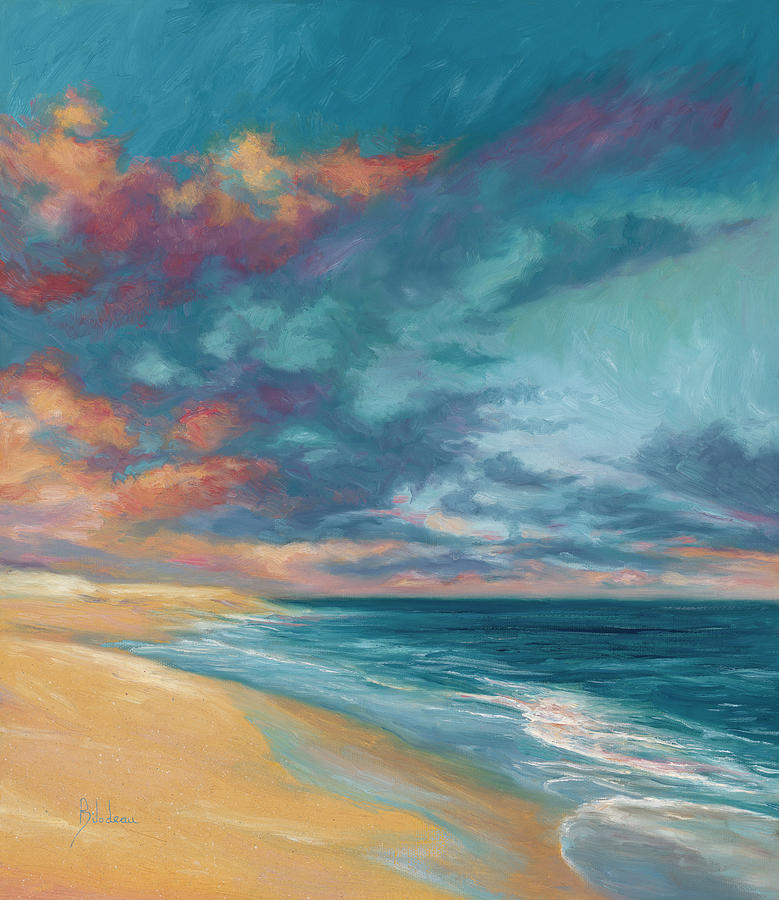 Ocean Painting - Under a Painted Sky by Lucie Bilodeau