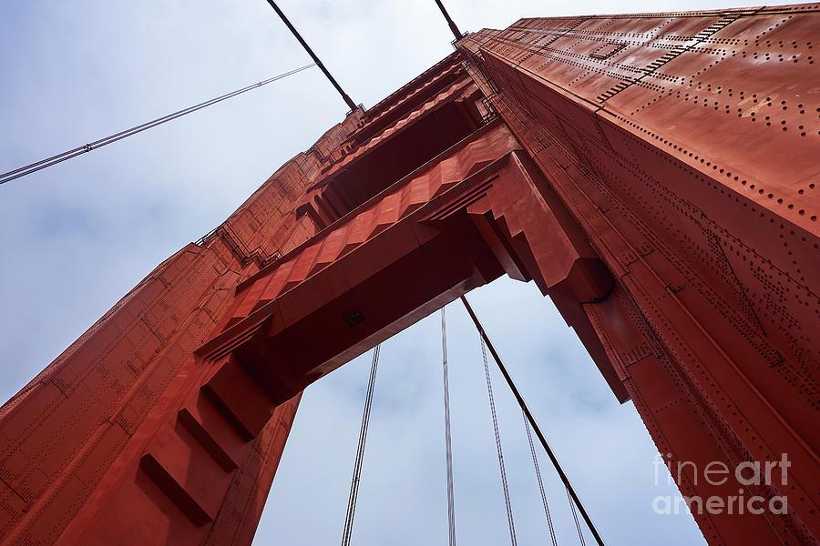 Golden Gate Bridge Photograph - Under An Icon by Steve Ondrus