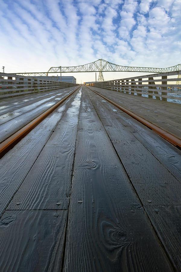 Bridge Photograph - Under Astoria Megler Bridge On Riverwalk by David Gn