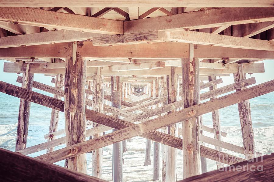 Under Balboa Pier Newport Beach by Paul Velgos