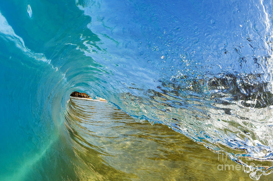 Amazing Photograph - Under Breaking Wave by MakenaStockMedia - Printscapes