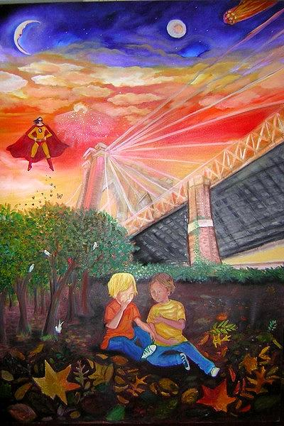 Under Painting - Under Brooklyn Bridge by Limor Nesher