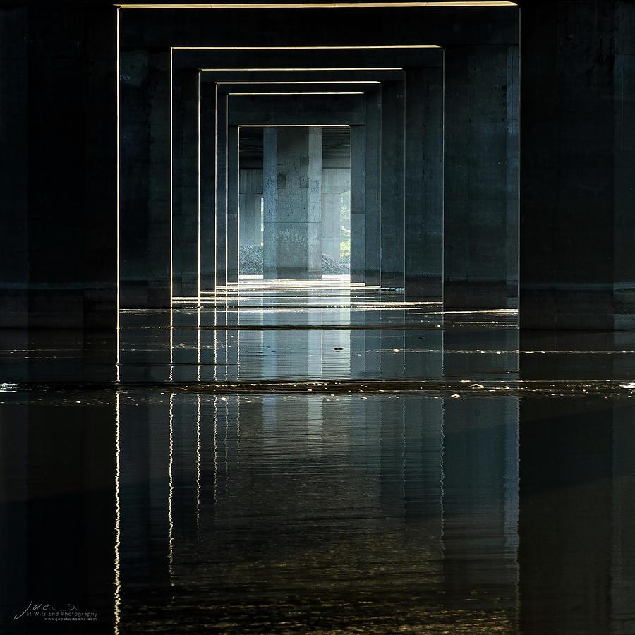 Architecture Photograph - Under Clark Bridge by Jae Mishra