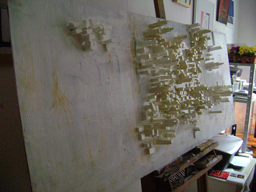 Skylines Sculpture - Under Construction by Bart Vromans