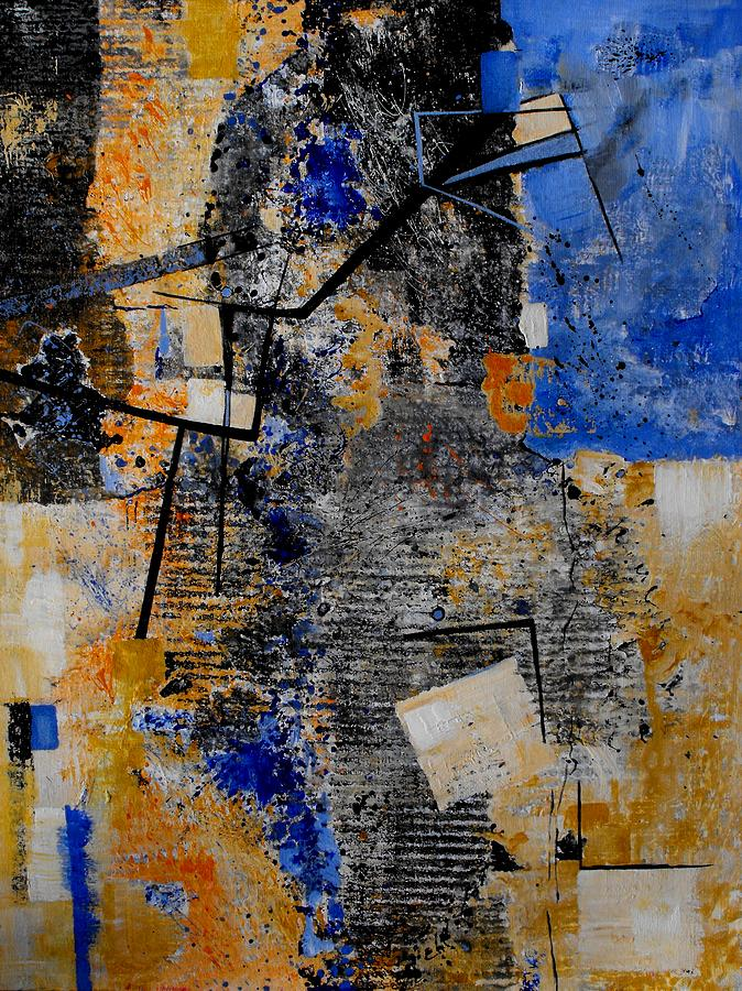 Abstract Painting - Under Construction by Ruth Palmer