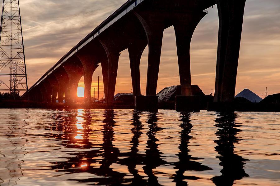 Sunset Photograph - Under Leo Frigo at Dusk by Nikki Vig