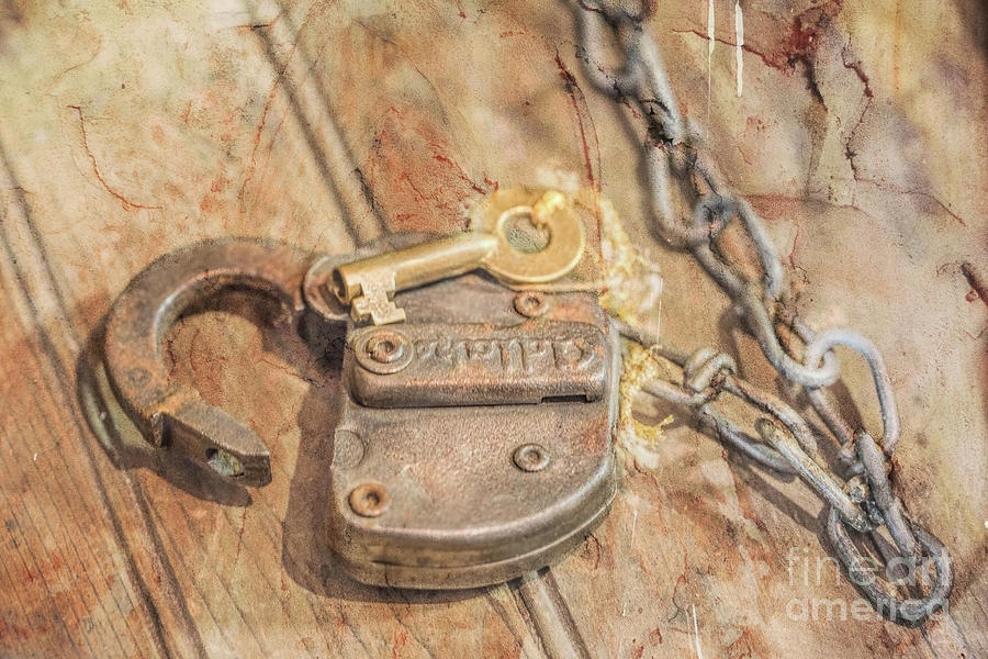 Under Lock And Key Distressed Photograph