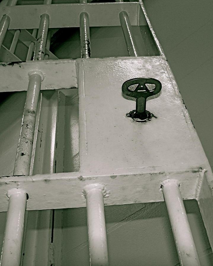 Jail Photograph - Under Lock And Key by Kimberly Camacho