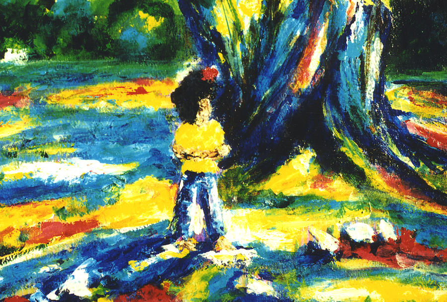 Banyan Tree Painting - Under The Banyan Tree#201 by Donald k Hall