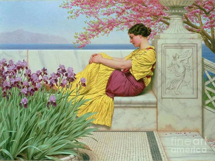Godward Painting - Under The Blossom That Hangs On The Bough by John William Godward