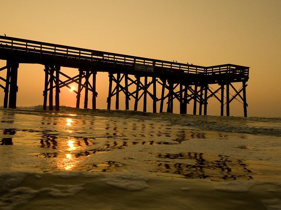 Landscape Photograph - Under The Boardwalk 3 by Tom Rickborn