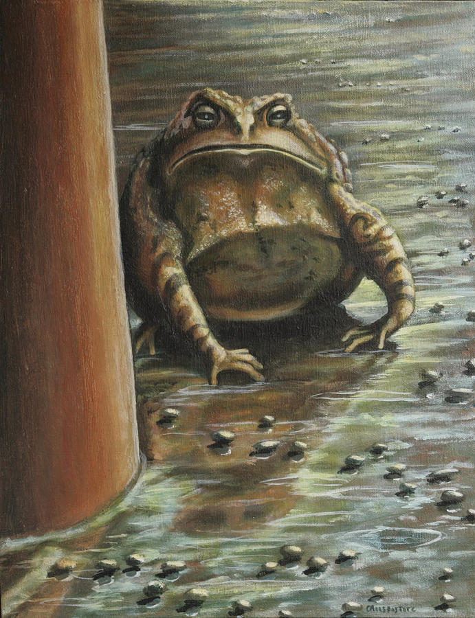 Toad Painting - Under the Boardwalk by Colleen  Maas-Pastore