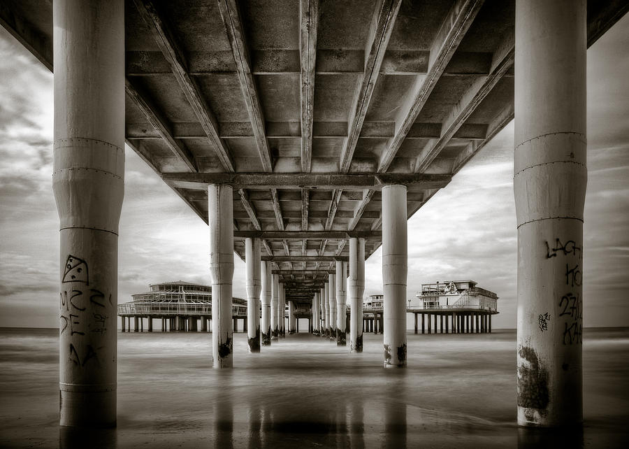 Pier Photograph - Under The Boardwalk by Dave Bowman