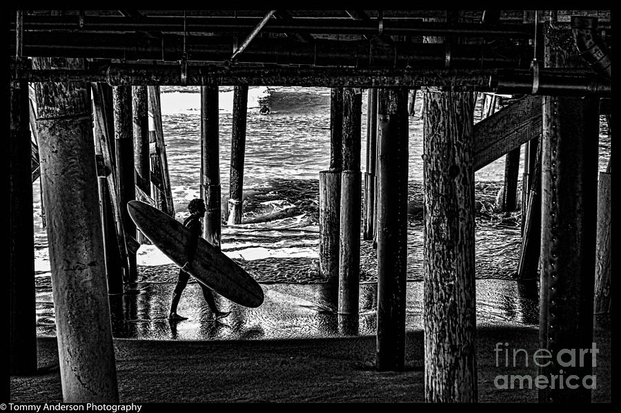 Warf Photograph - Under The Boardwalk by Tommy Anderson