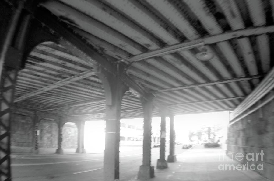 Under The Bridge Black And White Photograph