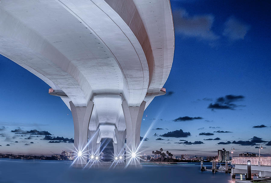 Beach Photograph - Under The Bridge Downtown by Todd Rogers
