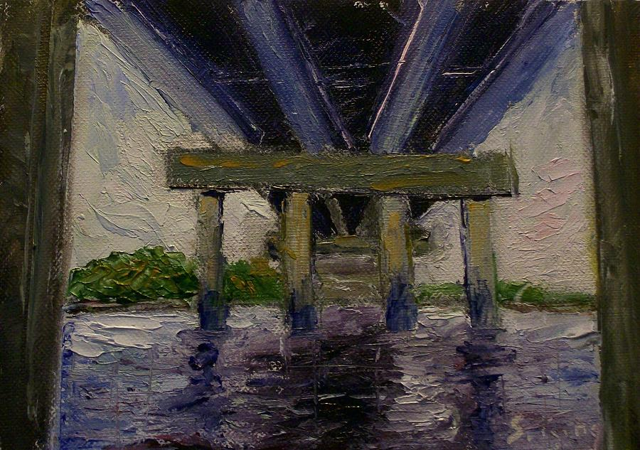Oil Painting - Under The Bridge by Stephen King