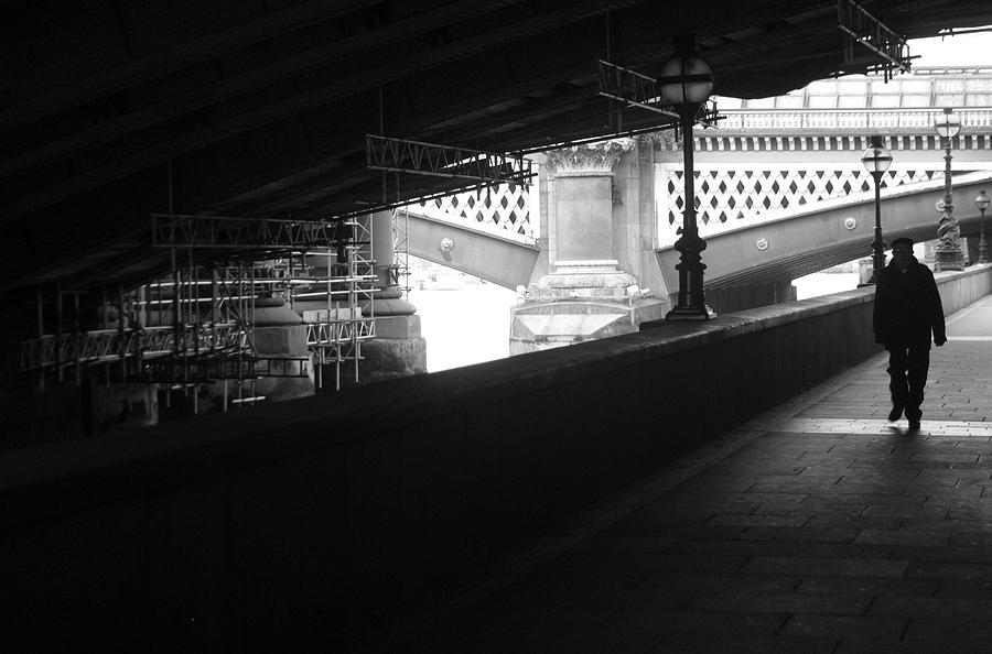 London Photograph - Under The Bridgewalk by Jez C Self