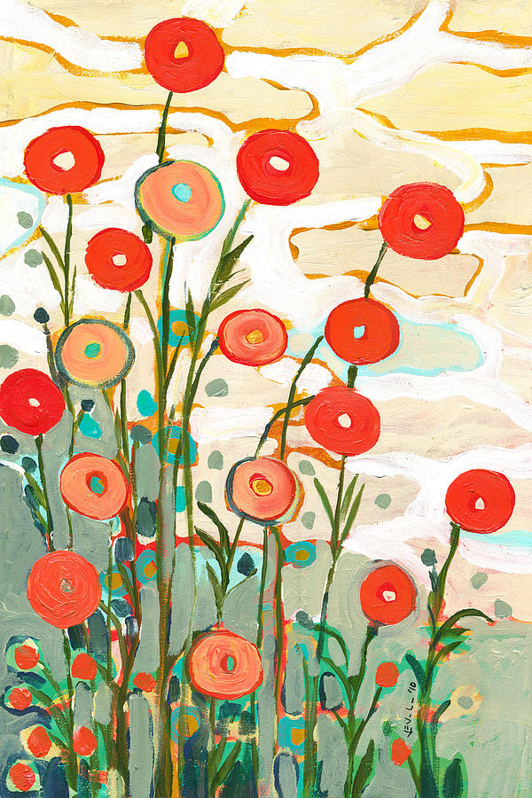Poppy Painting - Under The Desert Sky by Jennifer Lommers