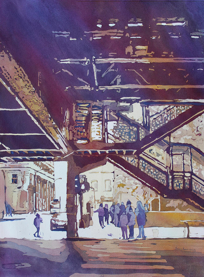 El Painting - Under The El by Jenny Armitage