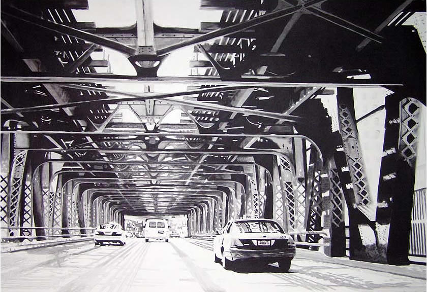 Chicago Painting - Under The El by Scott Robinson