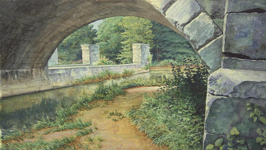 Erie Canal Painting - Under The Erie Canal by Stephen Bluto