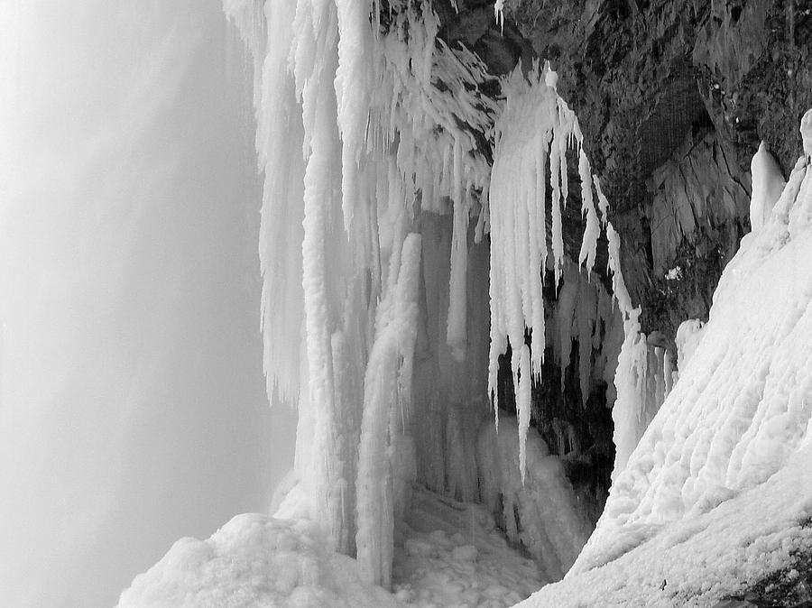 Niagara Falls Photograph - Under The Falls In Winter by Monica Vanzant